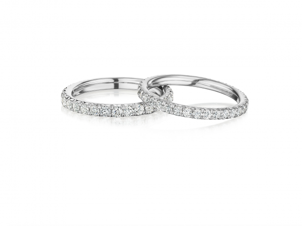 Stackable Pave Diamond Bands